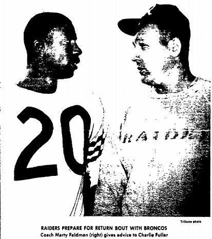 Feldman with Raiders sweatshirt