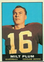 Milt Plum football card