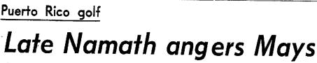 Namath, Mays headline