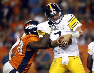 The Broncos' Von Miller corrals Big Ben