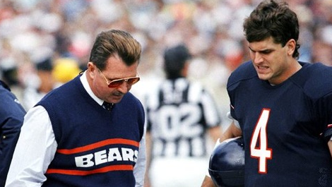 Mike Ditka and Jim Harbaugh, the only quarterback who started an entire season for him.