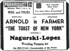 Nagurski bout in ad