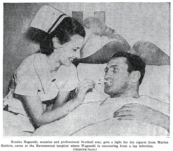 Nagurski in hospital