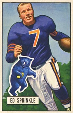 Sprinkle football card