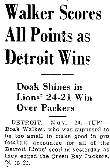 Walker's 24-point day, 1950