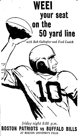10-20-61 Globe ad for Fri. night game that got postponed