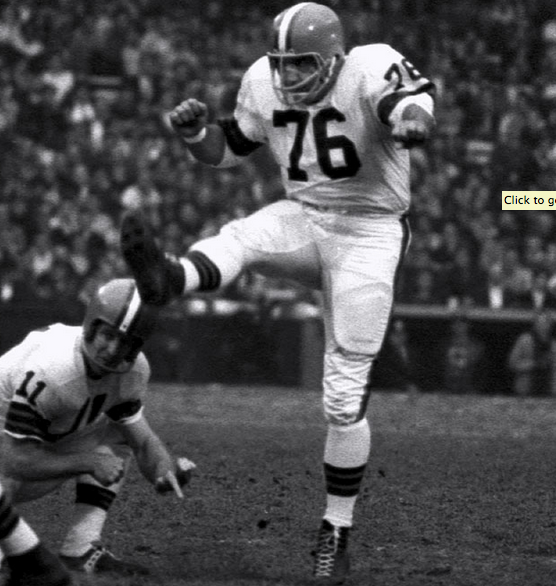 Browns Hall of Famer Lou Groza, remembered mostly for his kicking, once caught a TD pass.