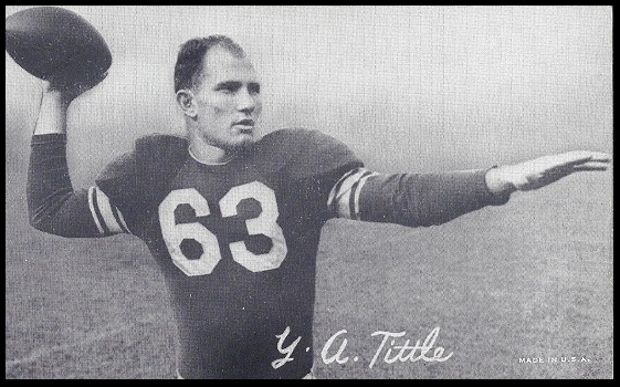 Y.A. Tittle at the outset of his career with the Baltimore Colts.