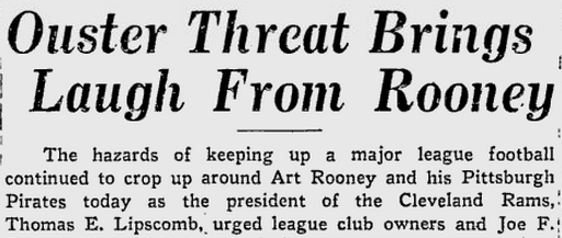 Rooney-Rams 10-12-38 Pittsburgh Press
