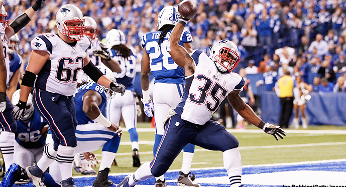 Jonas Gray, the Patriots' off-the-practice-squad rookie, got to do this in every quarter Monday night.