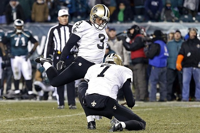 Much-traveled Shayne Graham has made 14 of 15 field goal tries for the Saints this season.