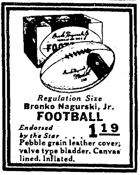 Nagurski Jr. football