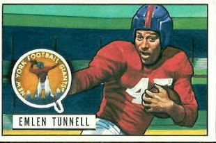 Tunnell football card