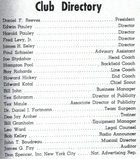 1951 Rams co-Texes