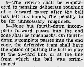 Some of the 1938 rule changes.