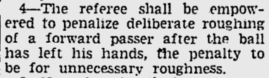 One of the 1939 rule changes.