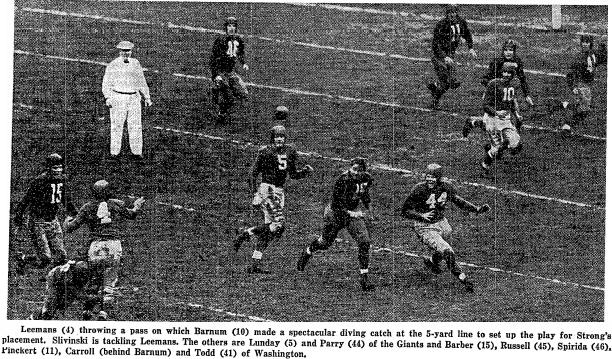 12-4-39 NYT Helmetless Redskin Jim Barber