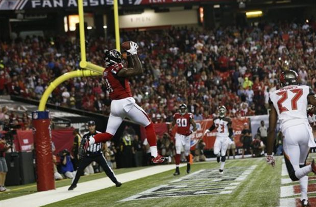 Healthy again, Julio Jones' receiving yards for the Falcons increased more than 1,000 yards this season.