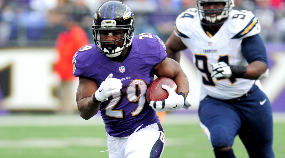 The Ravens' Justin Forsett rushed for an NFL-high 1,235 more yards than in 2013.