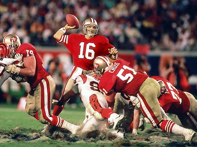 The Patriots' Tom Brady is fantabulous, but Joe Montana put up better numbers in the Super Bowl.