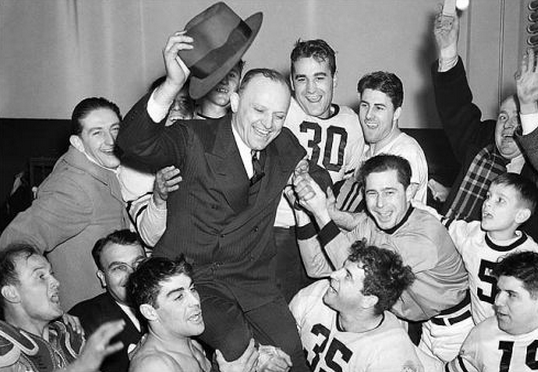 Bears coach George Halas after winning the 1940 title over the Redskins by the slim margin of 73-0.