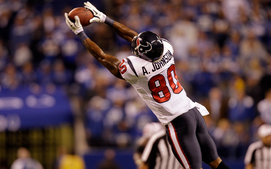 Andre Johnson is one of two 1,000-catch wideouts cast off by his longtime team this month.