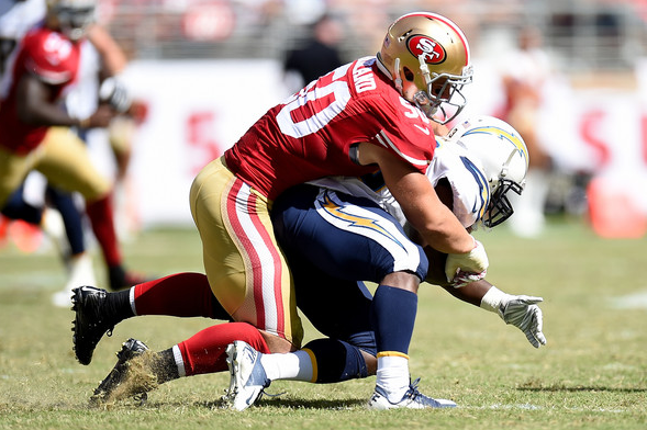 Former 49ers linebacker Chris Borland: one and done.
