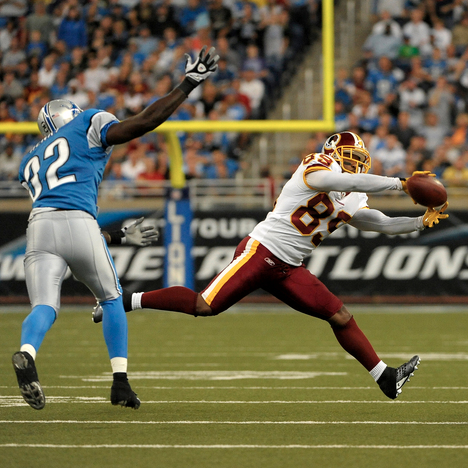 Santana Moss snares one vs. the Lions.