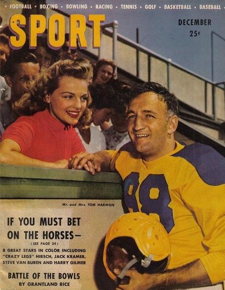 Tom Harmon during his Rams days.