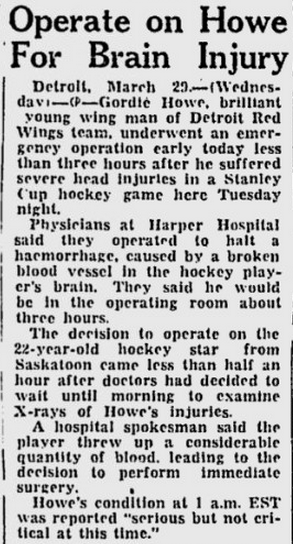 3-29-50 Montreal Gazette p. 19 Howe brain operation