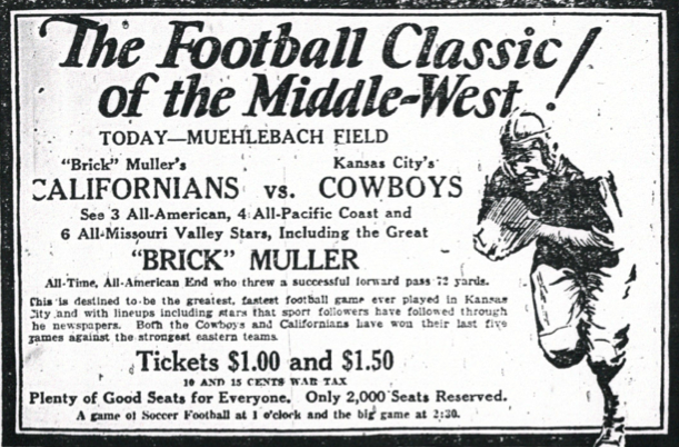 LA Bucs vs. KC Cowboys ad
