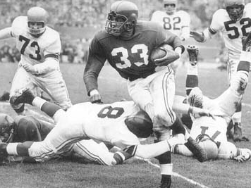 After the 1959 draft, the Rams gave the Cardinals nine players for this guy: RB Ollie Matson.