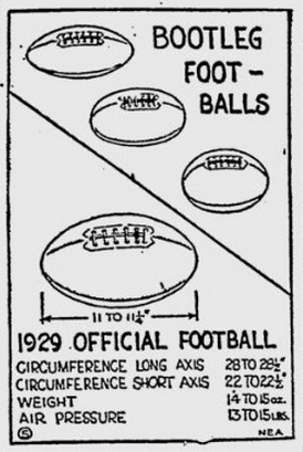 Bootleg footballs graphic