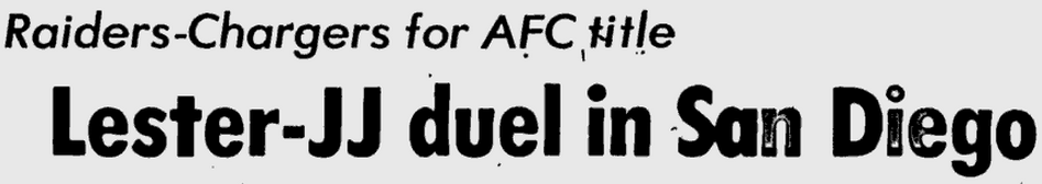 Headline before AFC title game JJ Duel