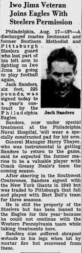 Jack Sanders AP story 8-18-45