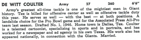 From the Giants' 1952 media guide.