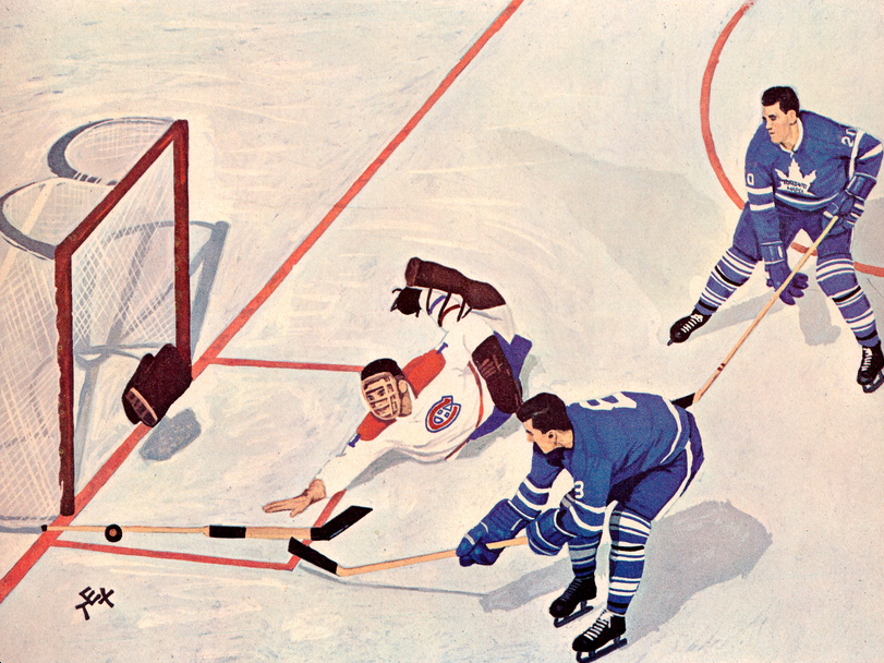 Coulter Cover of 1963 offical hockey annual