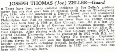 Joe Zeller in Who's Who in Major League Football 1935